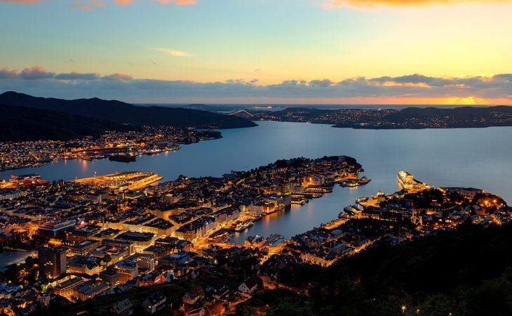 Oversiktsbilde over Ålesund