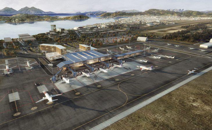 Illustrasjon av nye Bodø Lufthavn