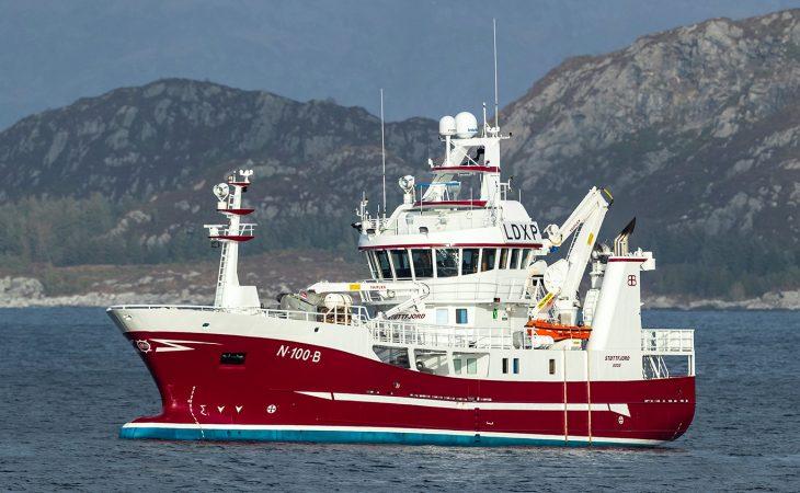 Bilde av fiskefartøyet Støttfjord bygd som hybridskip