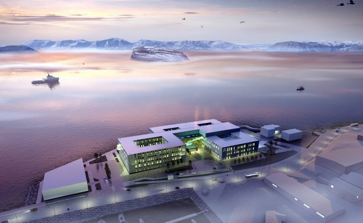 Bilde av nye Hammerfest sykehus