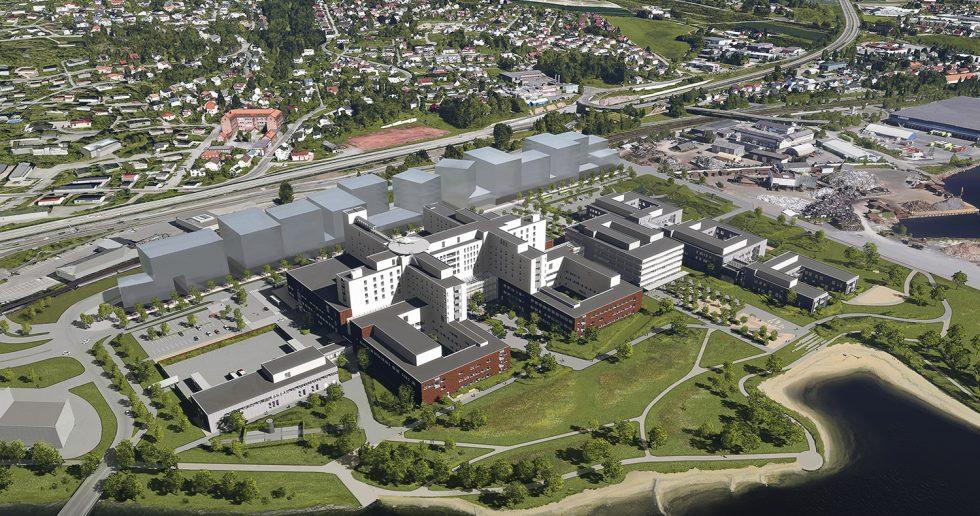 Nye Drammen Sykehus - illustrasjonsbilde