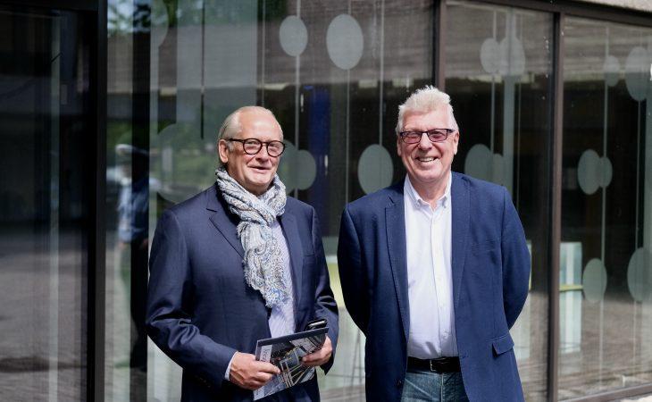 Prosjektleder Morten Haukeland (t.v.) i Fair Play Bygg Østfold og regionsjef Terje Beck i Nelfo Østfold