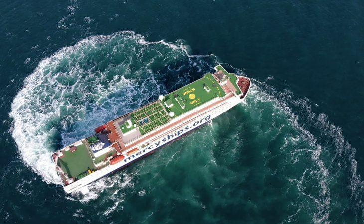 Sykehusskipet Global Mercy skal være spesielt manøvrerbart, slik at det kommer inn i lite tilgjengelige havner